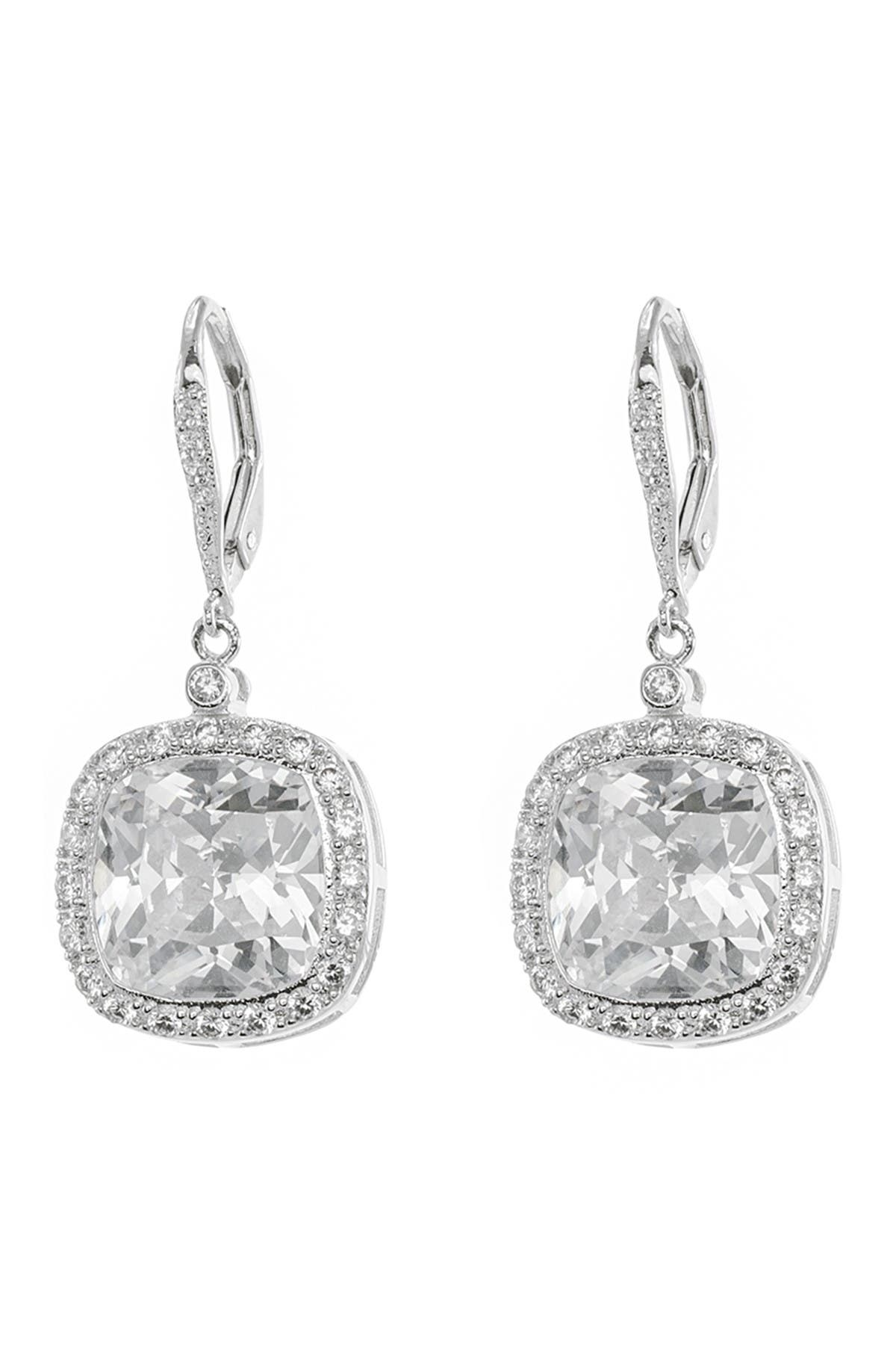 Image of CZ By Kenneth Jay Lane CZ Pave Border Earrings