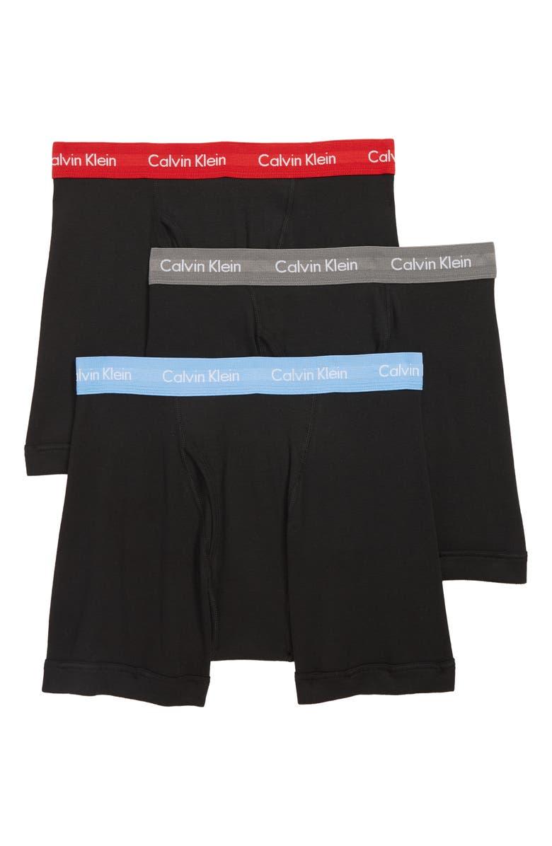 CALVIN KLEIN 3-Pack Boxer Briefs, Main, color, 003