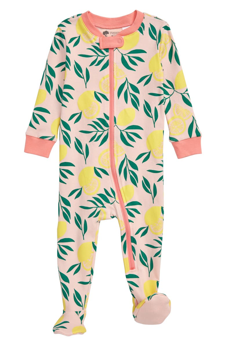 TUCKER + TATE Print Fitted One-Piece Pajamas, Main, color, PINK ENGLISH CITRUS