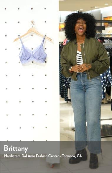 Zula Lace Trim Bralette, sales video thumbnail