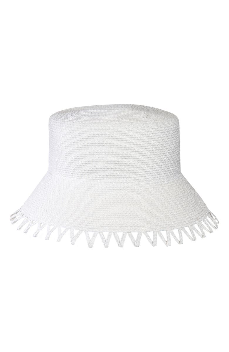 ERIC JAVITS Eloise Squishee<sup>®</sup> Bucket Hat, Main, color, WHITE