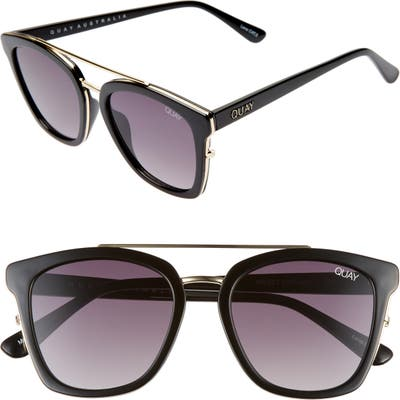 Quay Australia X Chrissy Teigen Sweet Dreams 51Mm Square Sunglasses - Black/ Smoke