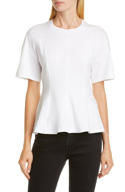 Opening Ceremony PEPLUM COTTON TEE
