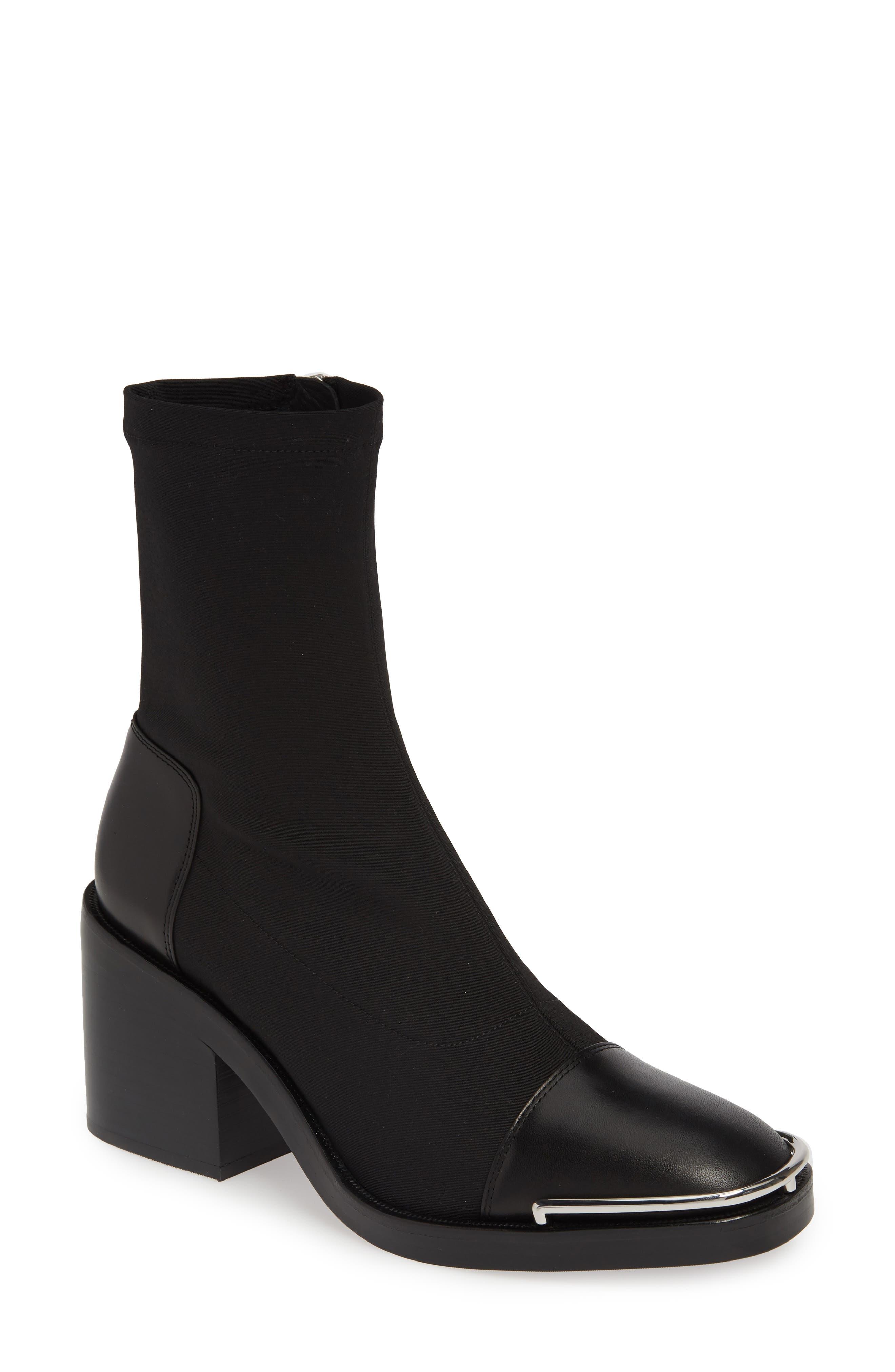 Alexander Wang Hailey Halo Sock Bootie - Black