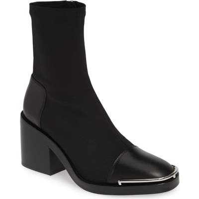 Alexander Wang Hailey Halo Sock Bootie, Black