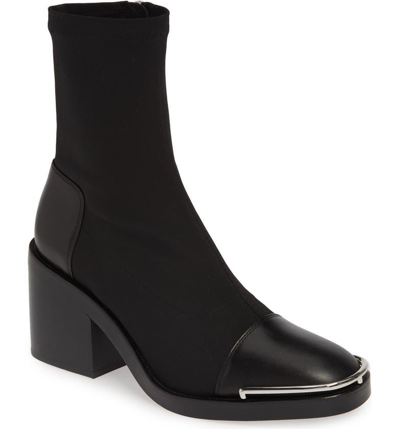 ALEXANDER WANG Hailey Halo Sock Bootie, Main, color, BLACK