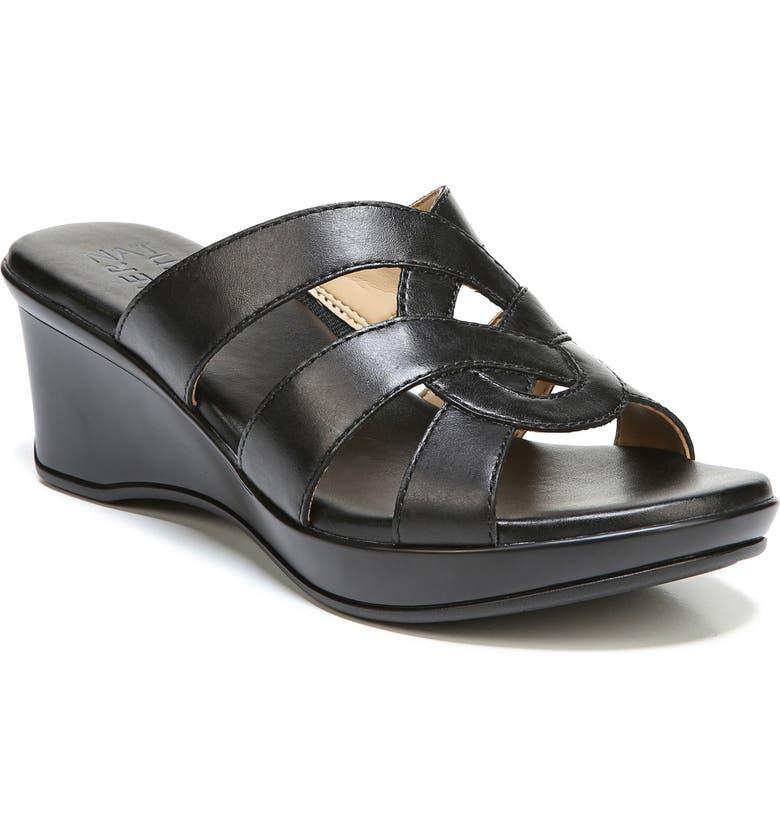 NATURALIZER Violet Wedge Slide Sandal, Main, color, 001