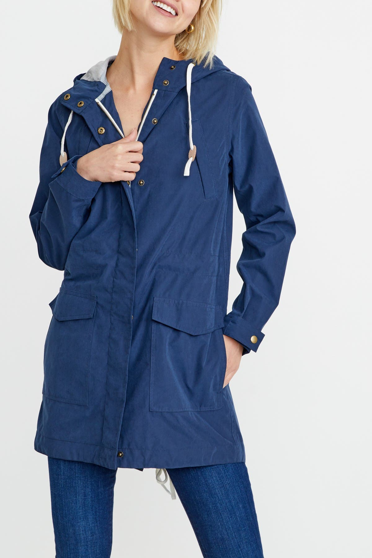 Image of Marine Layer Milie Hooded Raincoat