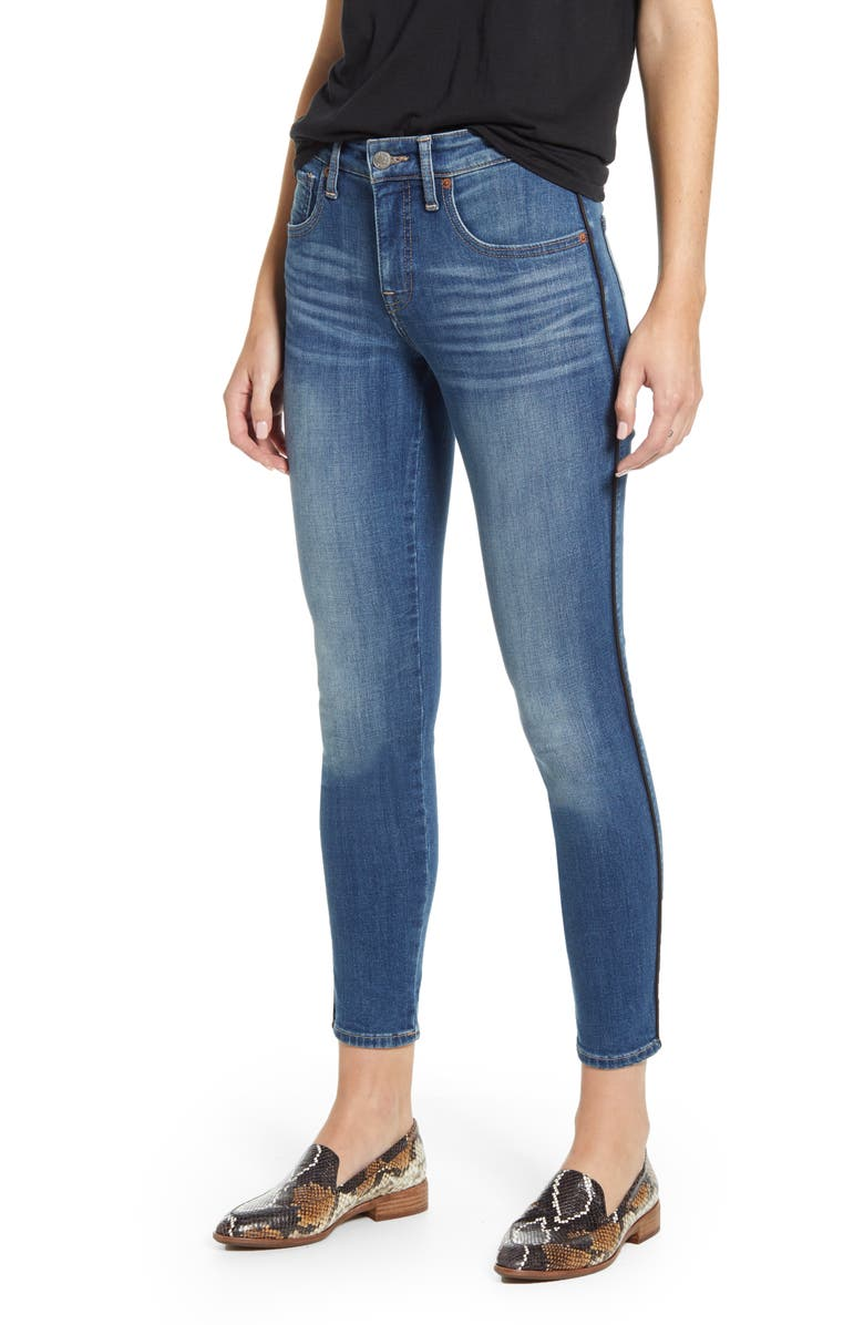 LUCKY BRAND Ava Piped Skinny Jeans, Main, color, FOXCROFT W/ PIPING
