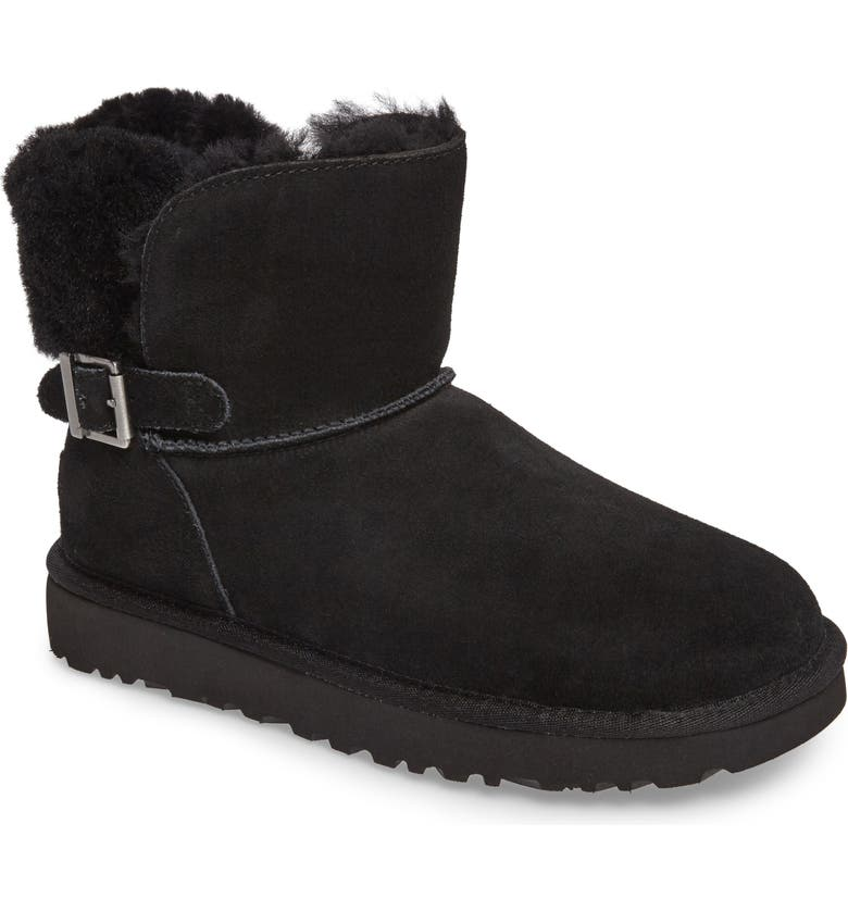 UGG<SUP>®</SUP> Karel Boot, Main, color, BLACK SUEDE
