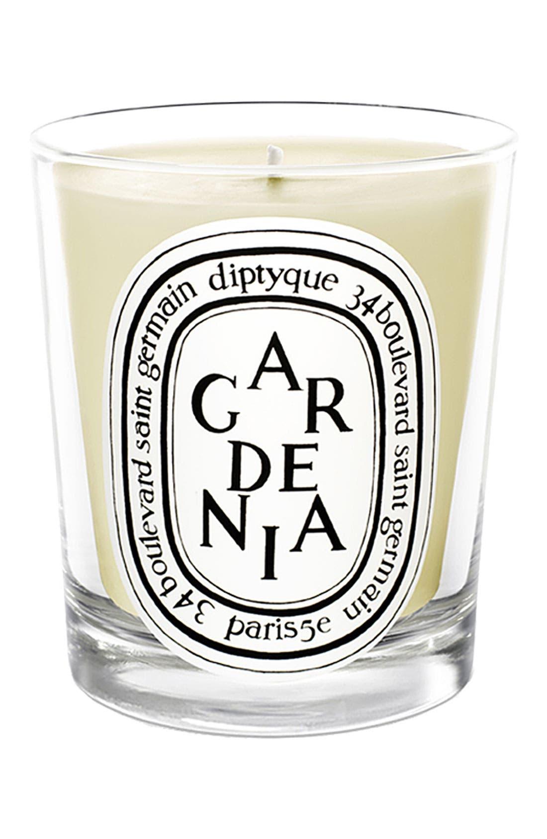 Gardenia Scented Candle, Main, color, NO COLOR