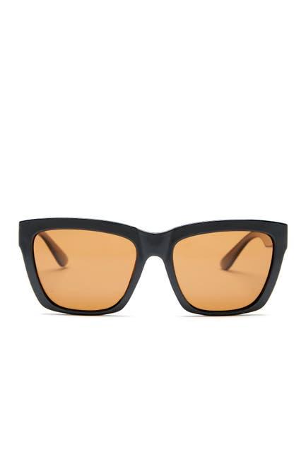 Image of Joe's Jeans Polarized 55mm Squared Sunglasses