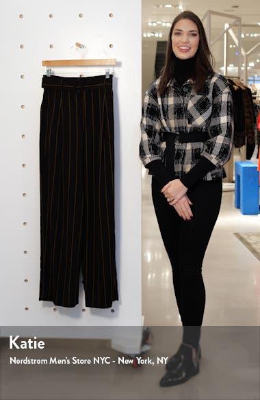 Belted Stripe Wide Leg Pants, sales video thumbnail