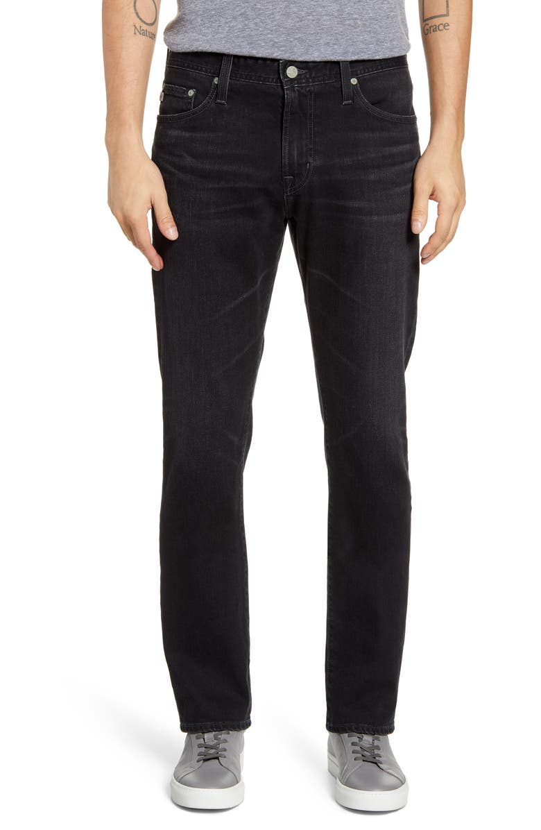 AG Everett Slim Straight Leg Jeans, Main, color, 4 YEARS PILOT