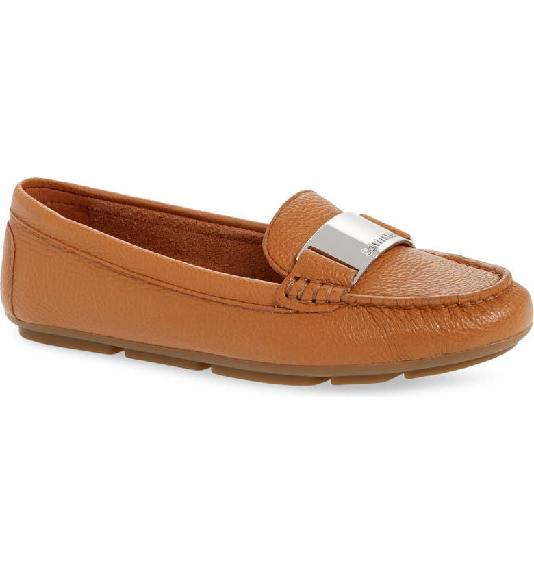 CALVIN KLEIN Lisette Loafer, Main, color, BROWN LEATHER
