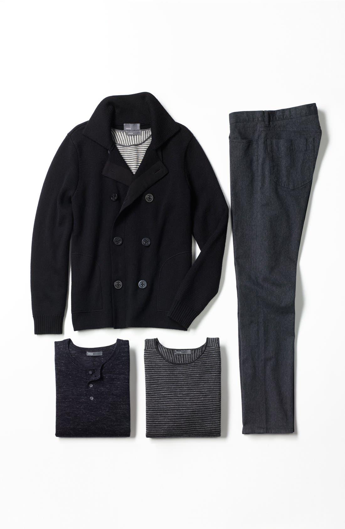 ,                             Pea Coat Sweater,                             Alternate thumbnail 4, color,                             001