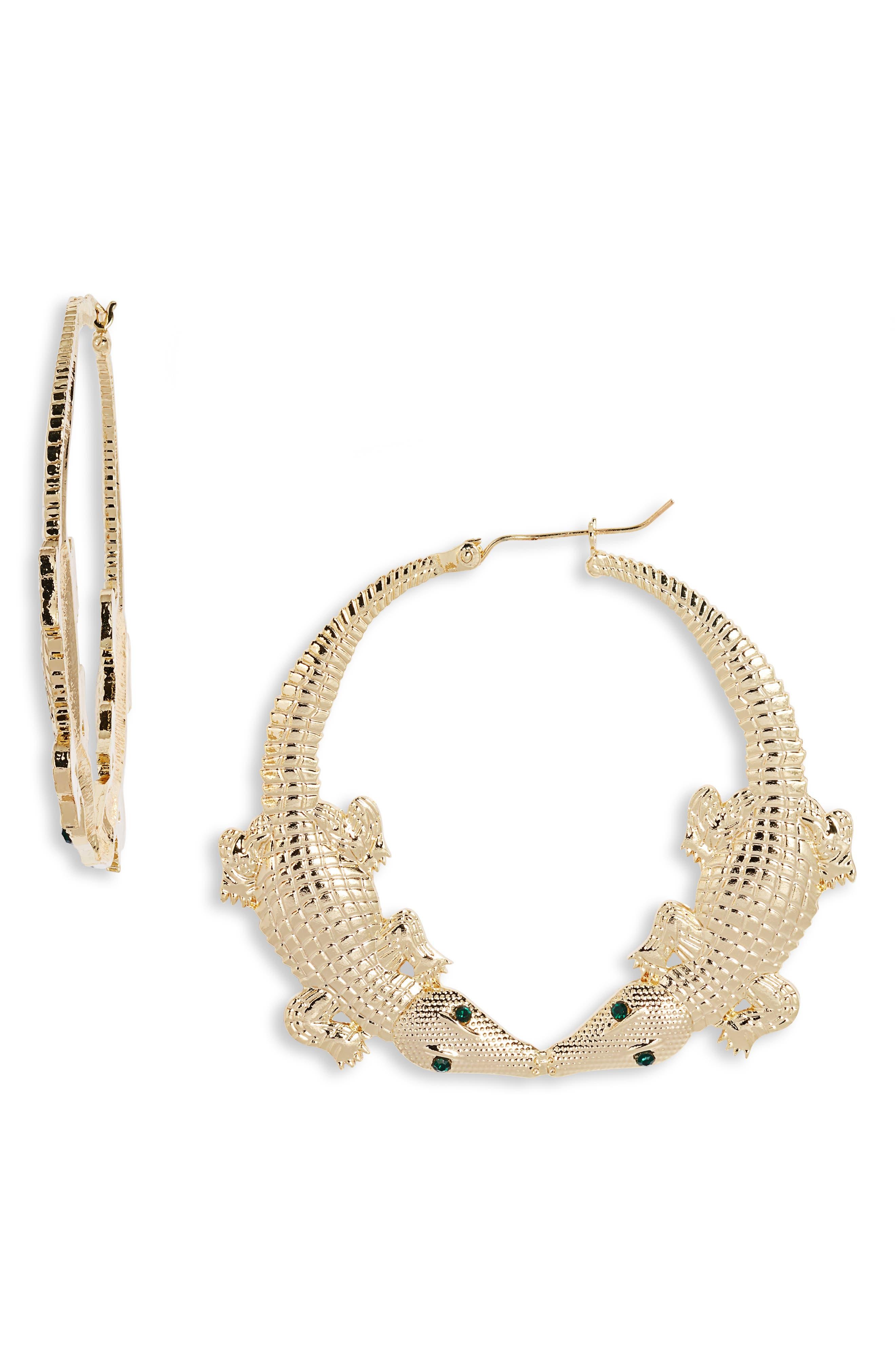 Gator Hoop Earrings
