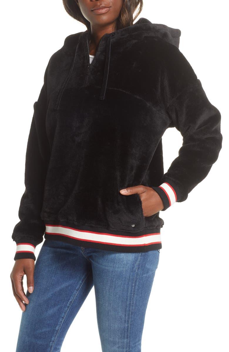 UGG<SUP>®</SUP> Kailani Fleece Hooded Sweatshirt, Main, color, BLK