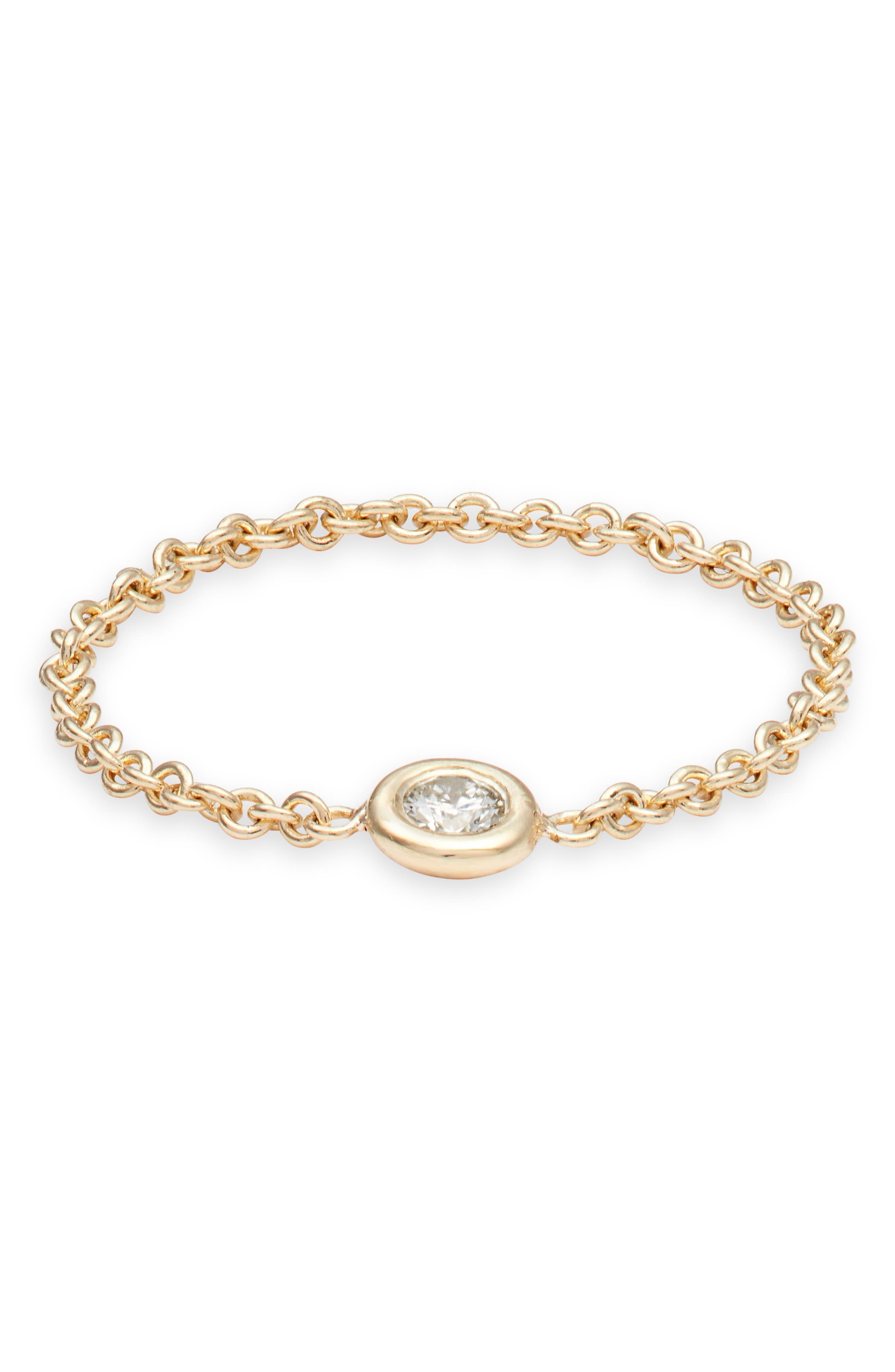 Zoe Chicco Diamond Chain Ring