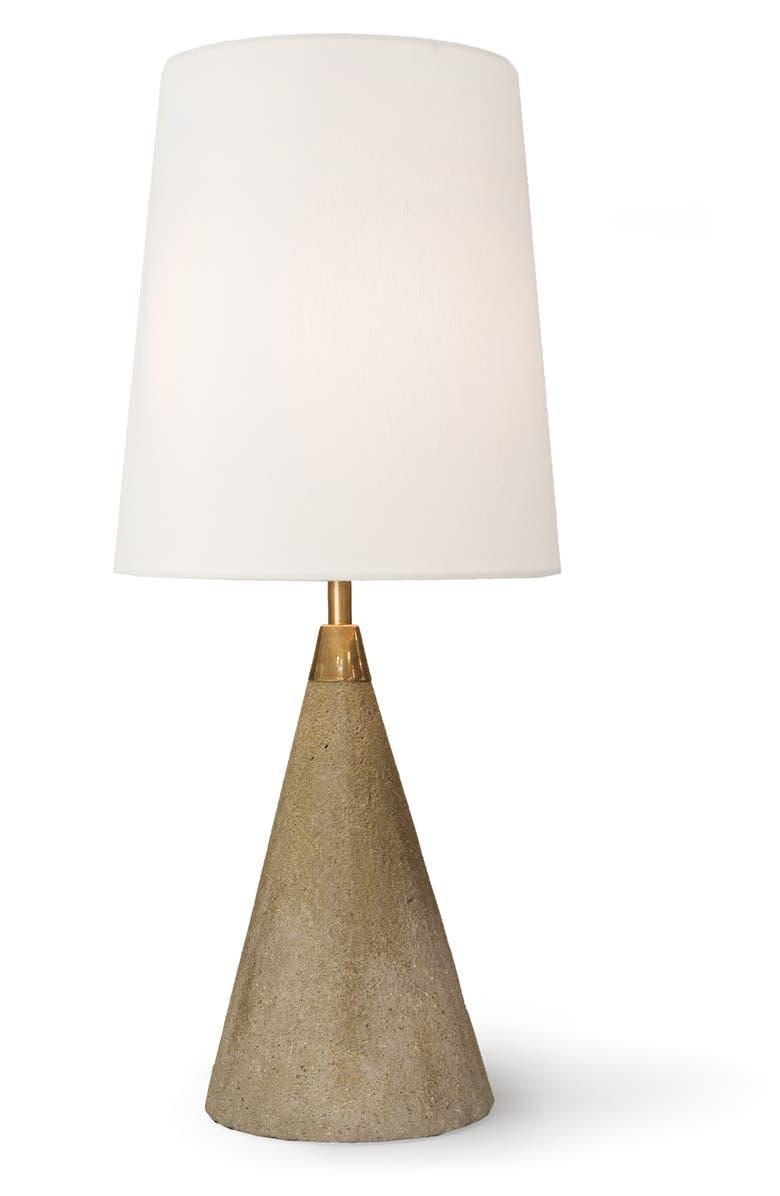 REGINA ANDREW DESIGN Concrete Mini Cone Lamp, Main, color, GREY