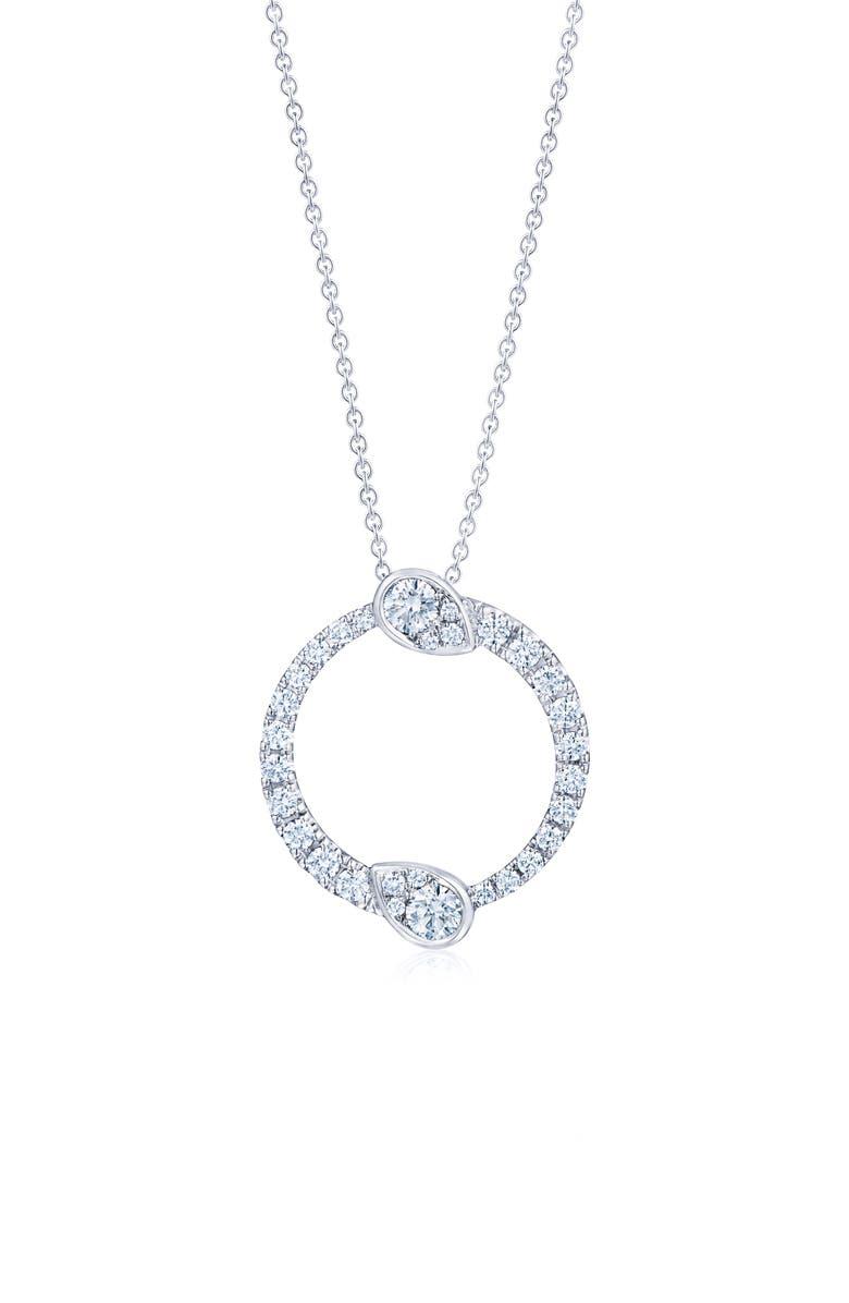 KWIAT Eclipse Yin Yang Diamond Pendant Necklace, Main, color, WHITE GOLD