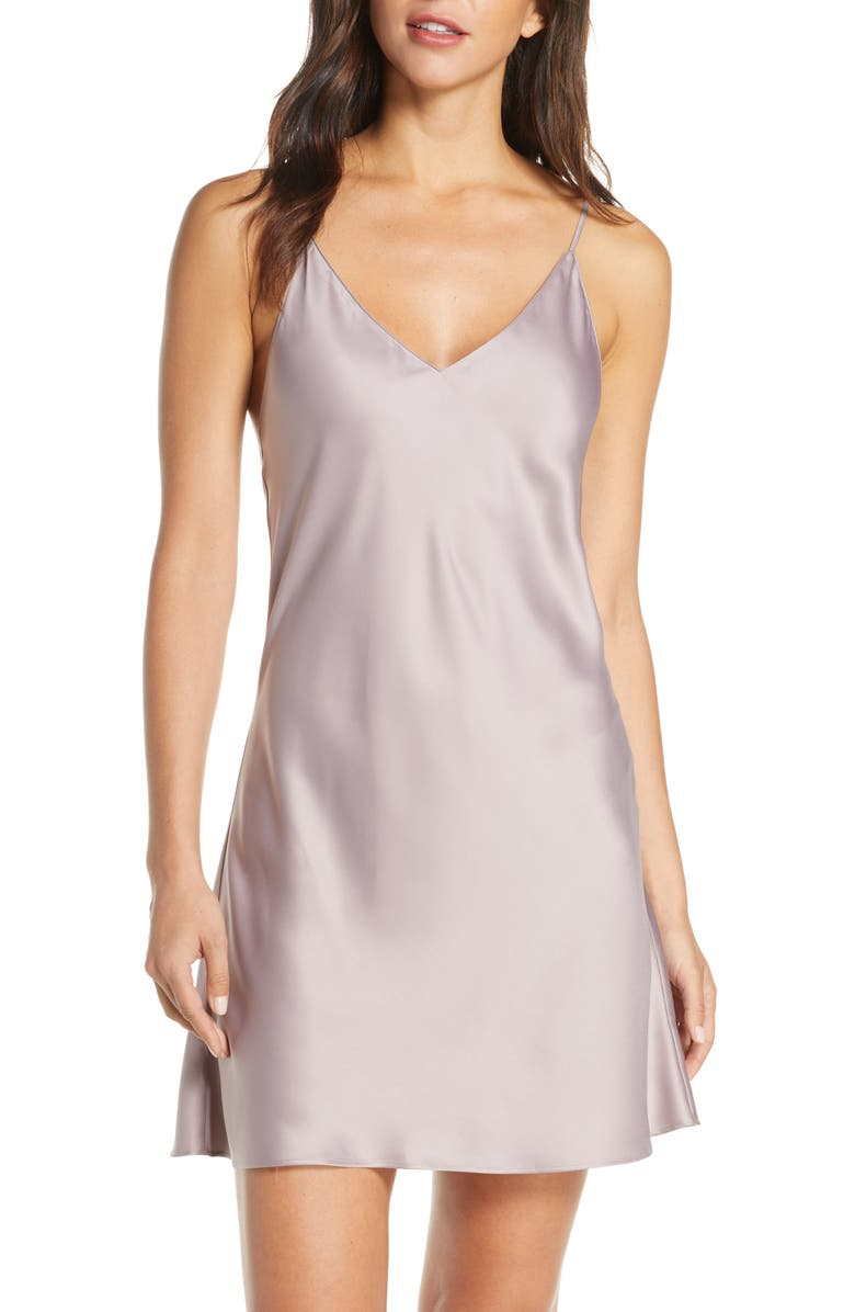 NATORI Satin Elements Chemise, Main, color, PUD PURPLE DOVE