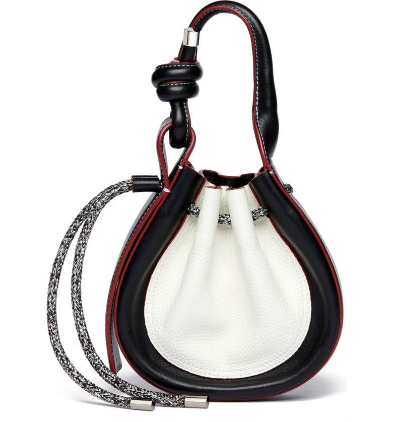 BEHNO Mini Ina Sport Leather Crossbody Bag, Main, color, WHITE COMBO