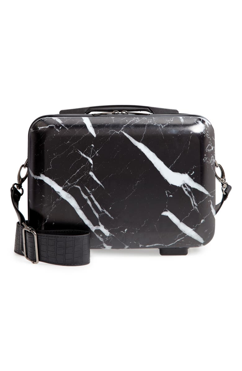 CALPAK Hard Side Cosmetics Case, Main, color, MIDNIGHT MARBLE