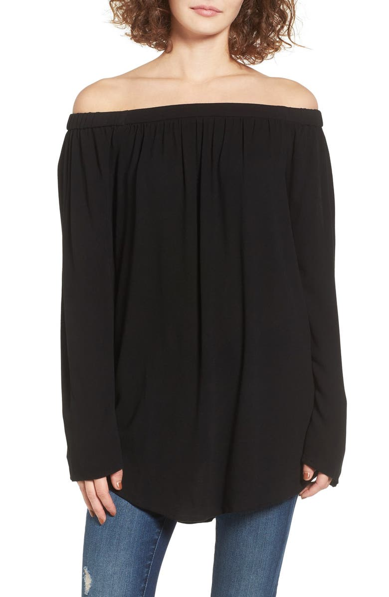BP. Off the Shoulder Tunic, Main, color, 001