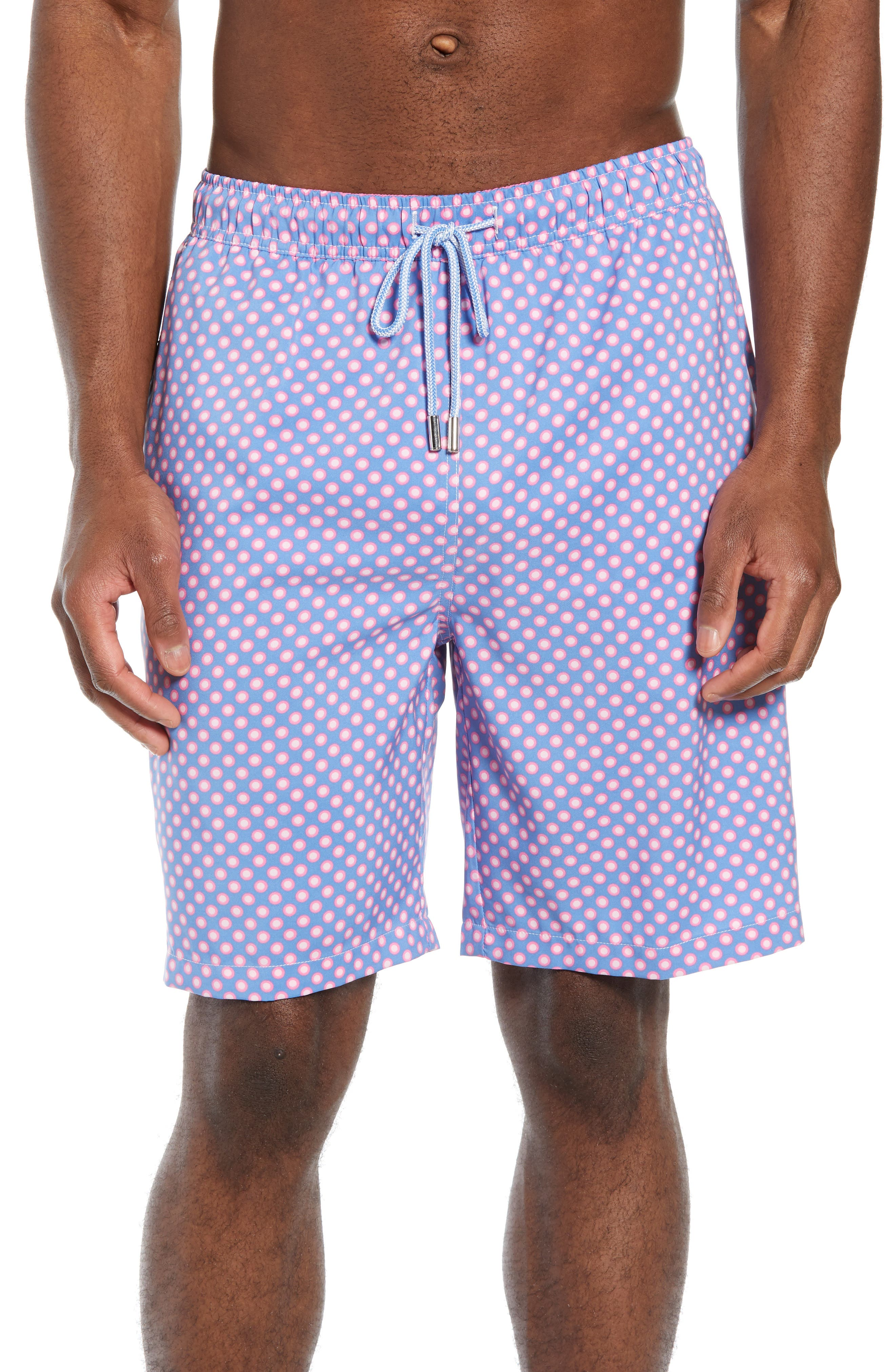 Peter Millar Polka Spots Swim Trunks, Blue