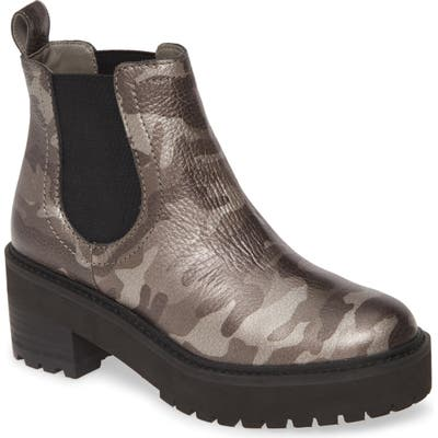 Linea Paolo Tate Platform Chelsea Boot- Grey