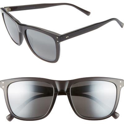 Maui Jim Velzyland 5m Polarizedplus2 Square Sunglasses - Dark Translucent Grey/ Grey