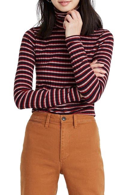 Image of Madewell Stripe Turtleneck Top