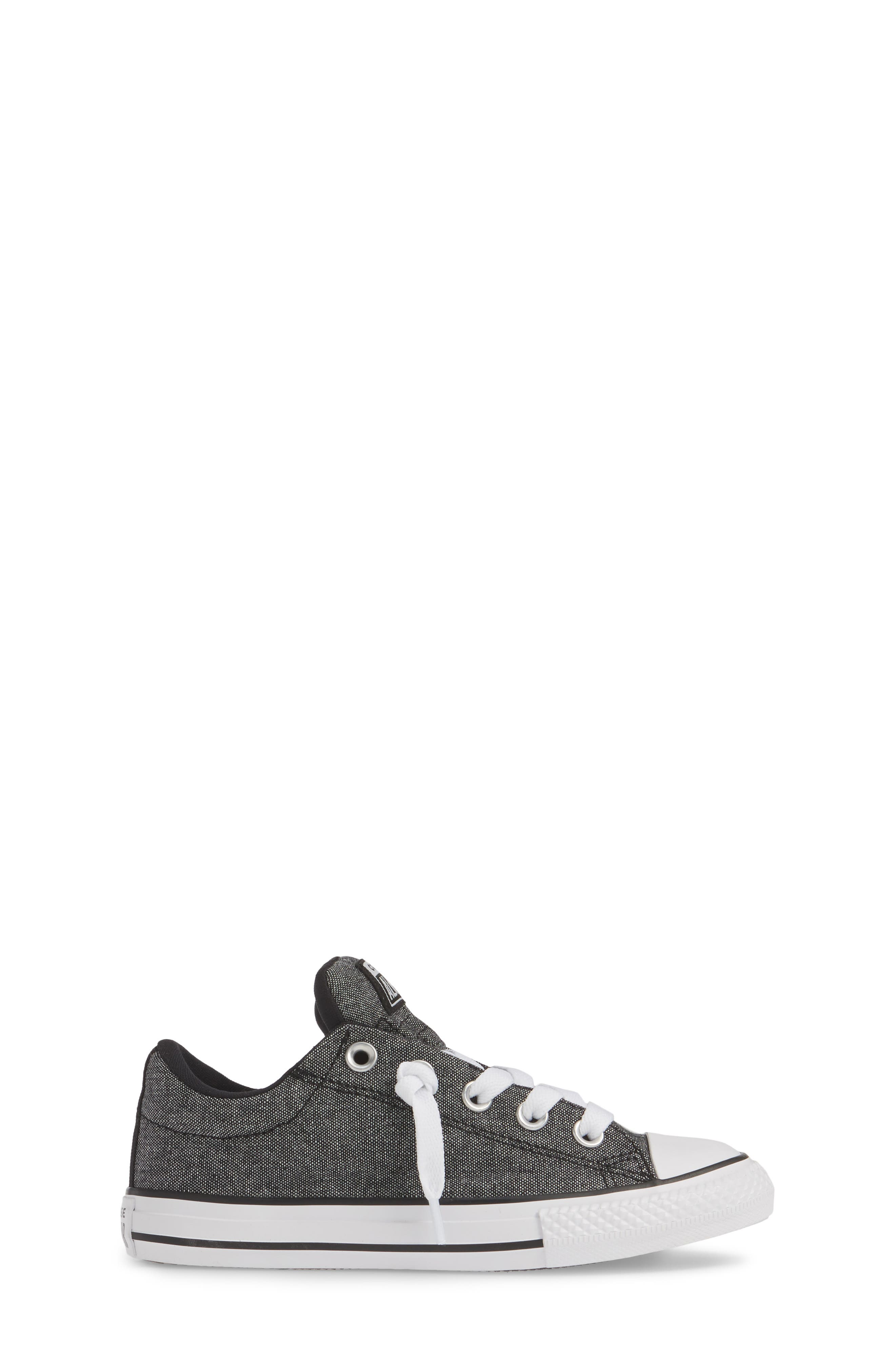 ,                             Chuck Taylor<sup>®</sup> All Star<sup>®</sup> Street Sneaker,                             Alternate thumbnail 3, color,                             BLACK/ BLACK/ WHITE