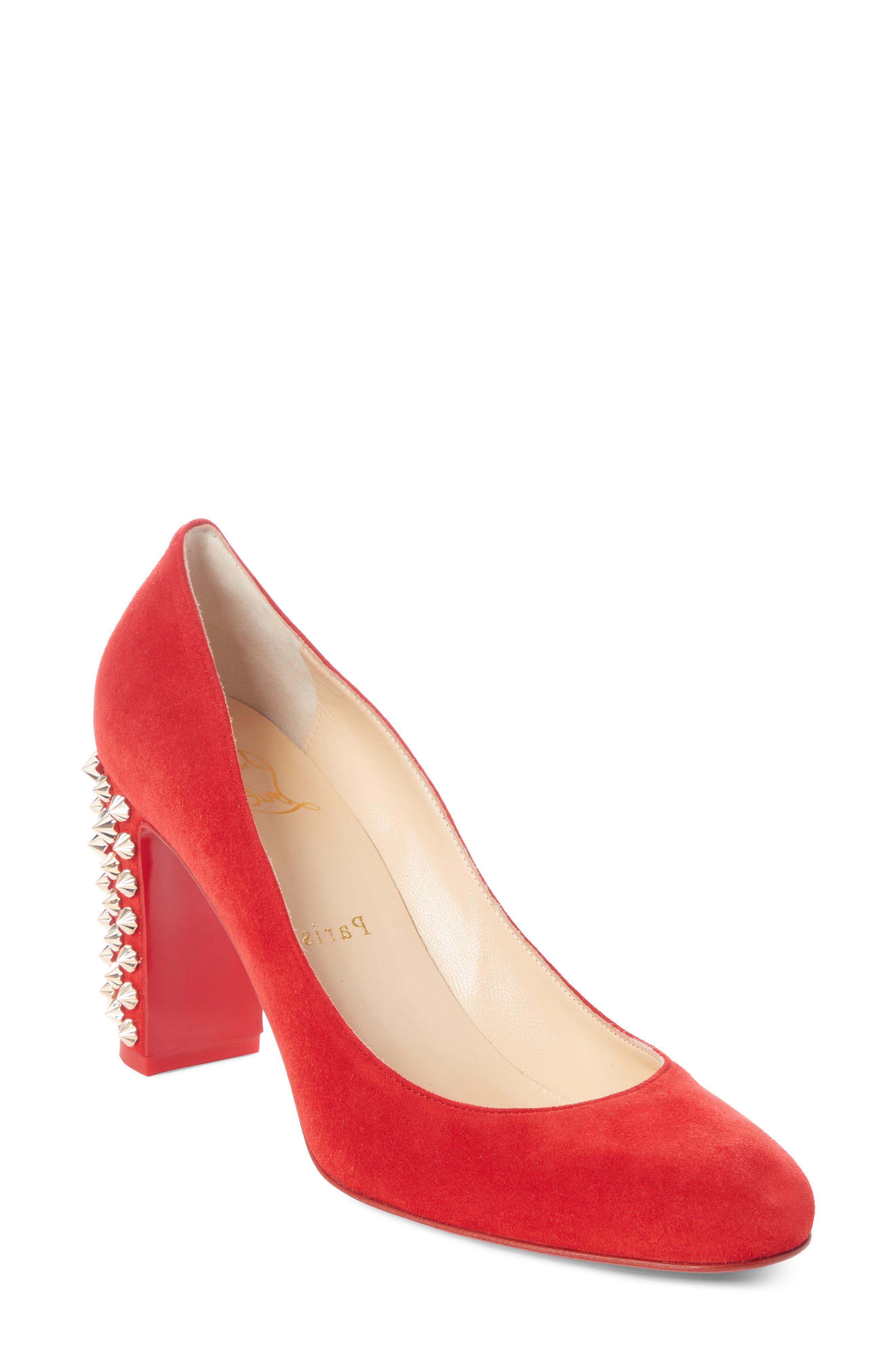 Christian Louboutin Marimalus Spike Heel Pump - Red