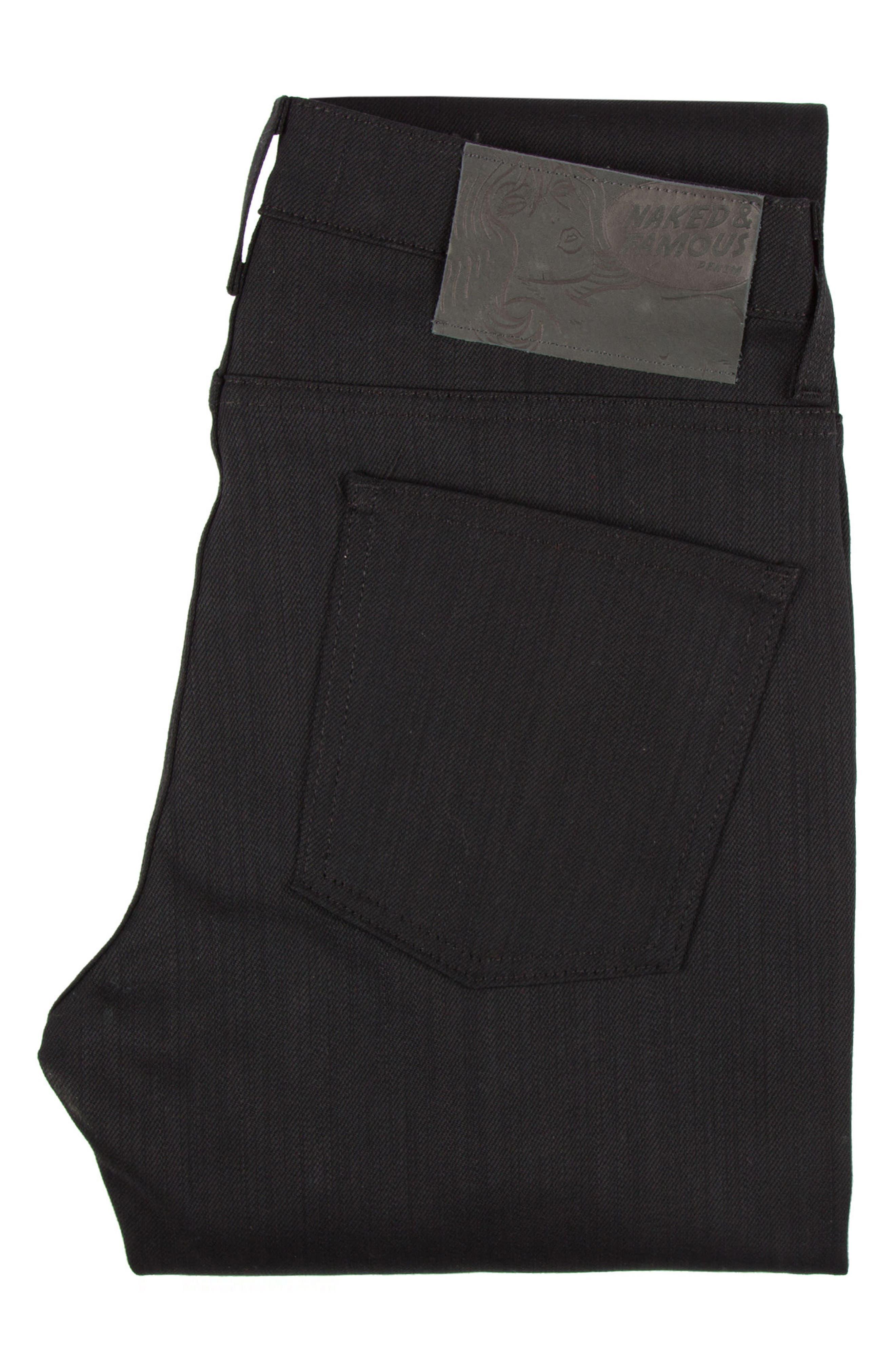 ,                             Skinny Guy Skinny Fit Jeans,                             Alternate thumbnail 5, color,                             BLACK POWER STRETCH