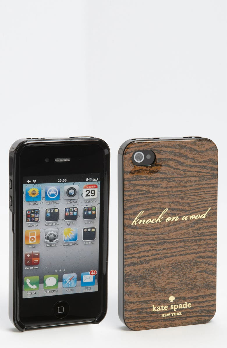 KATE SPADE NEW YORK 'knock on wood' iPhone 4 & 4S case, Main, color, 200