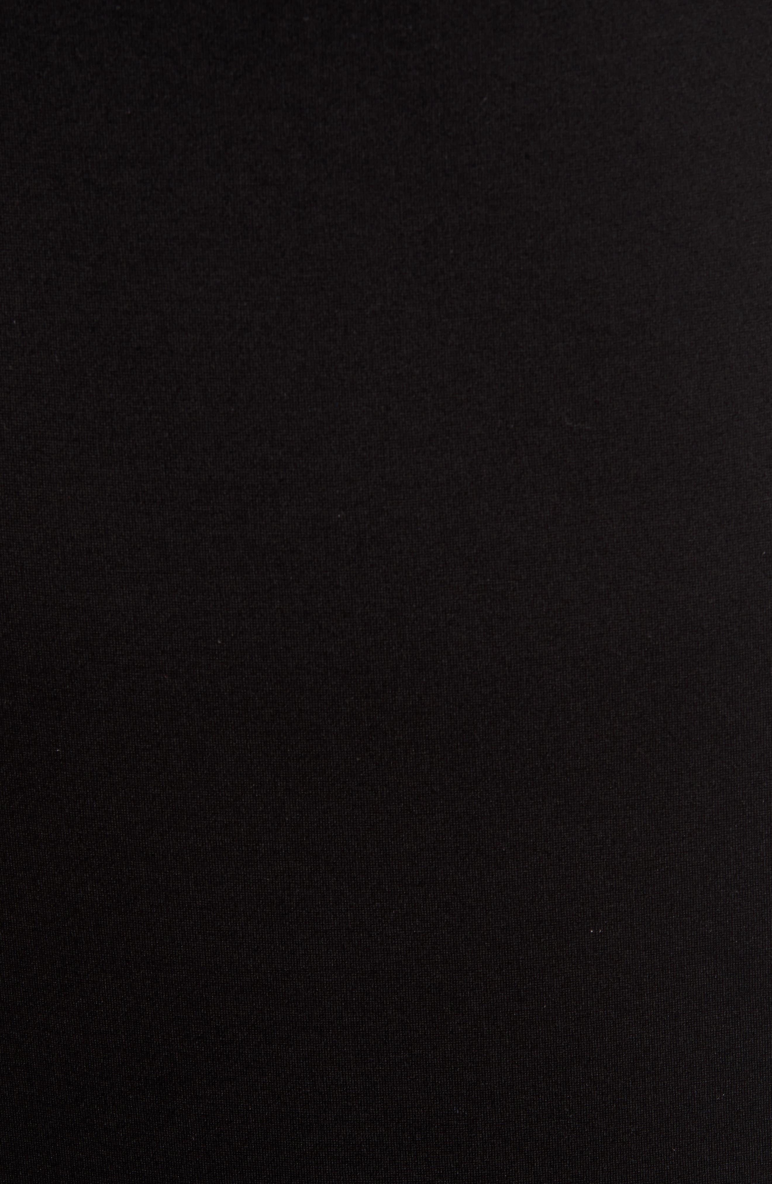 ,                             Flutter Sleeve Ponte Dress,                             Alternate thumbnail 6, color,                             BLACK