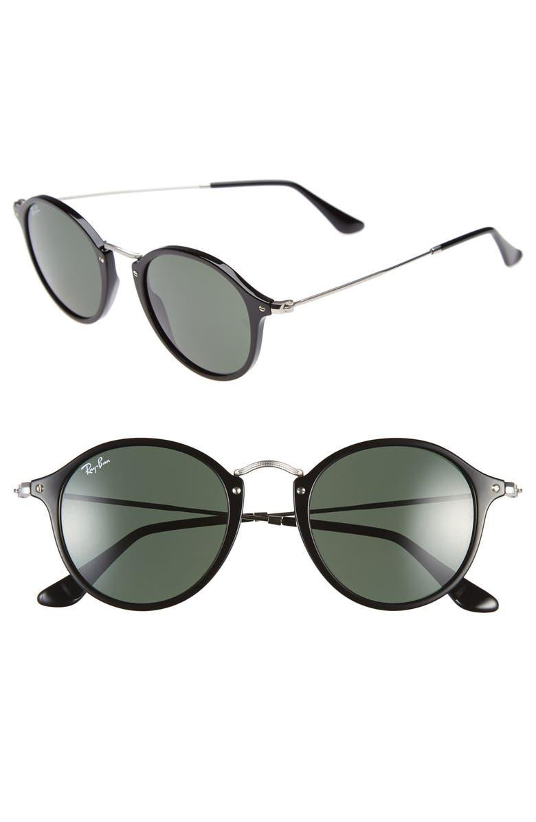 RAY-BAN 'Icon' 49mm Sunglasses, Main, color, 001
