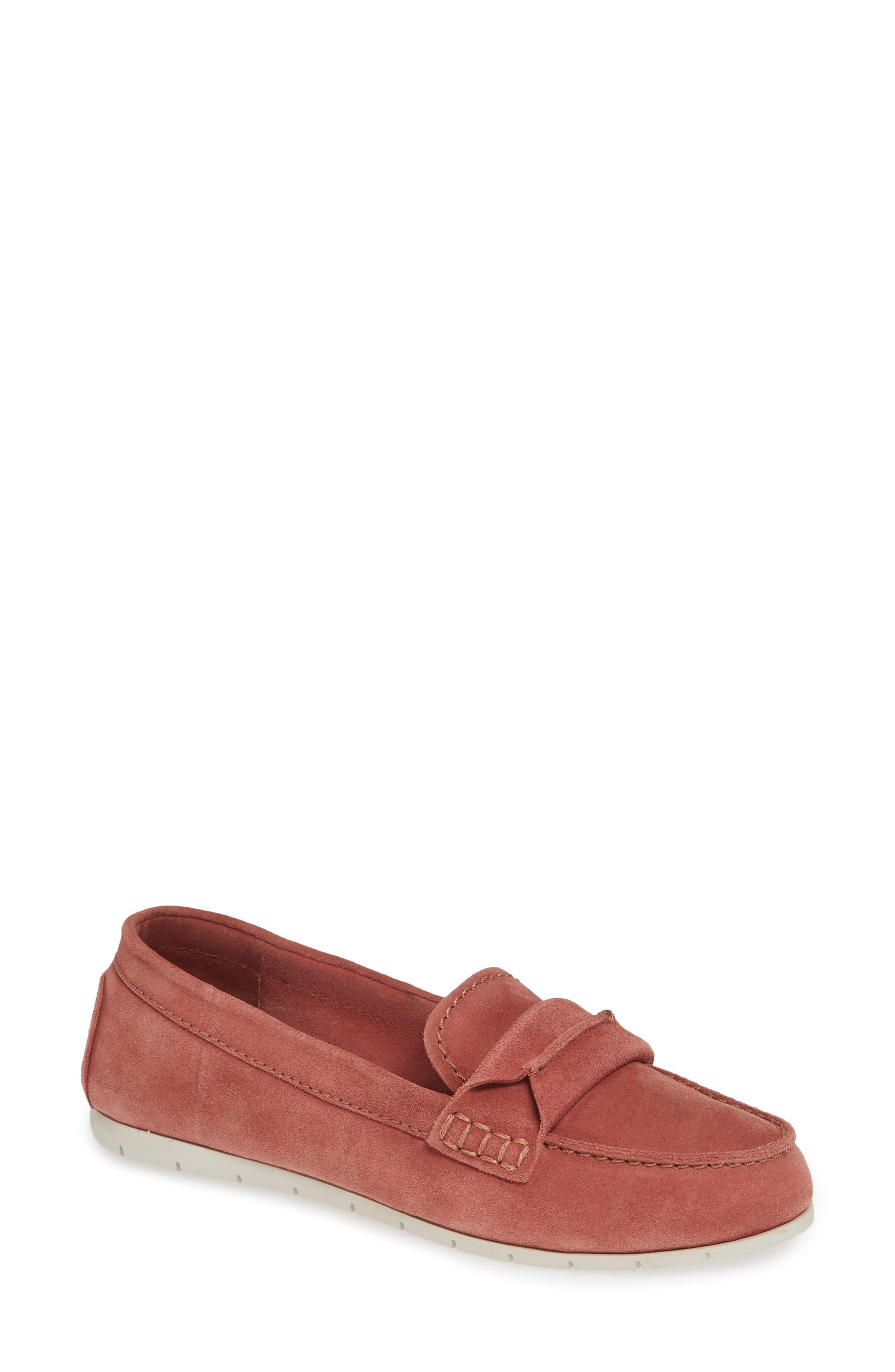 Frye Sedona Top Seam Moccasin Loafer, Pink