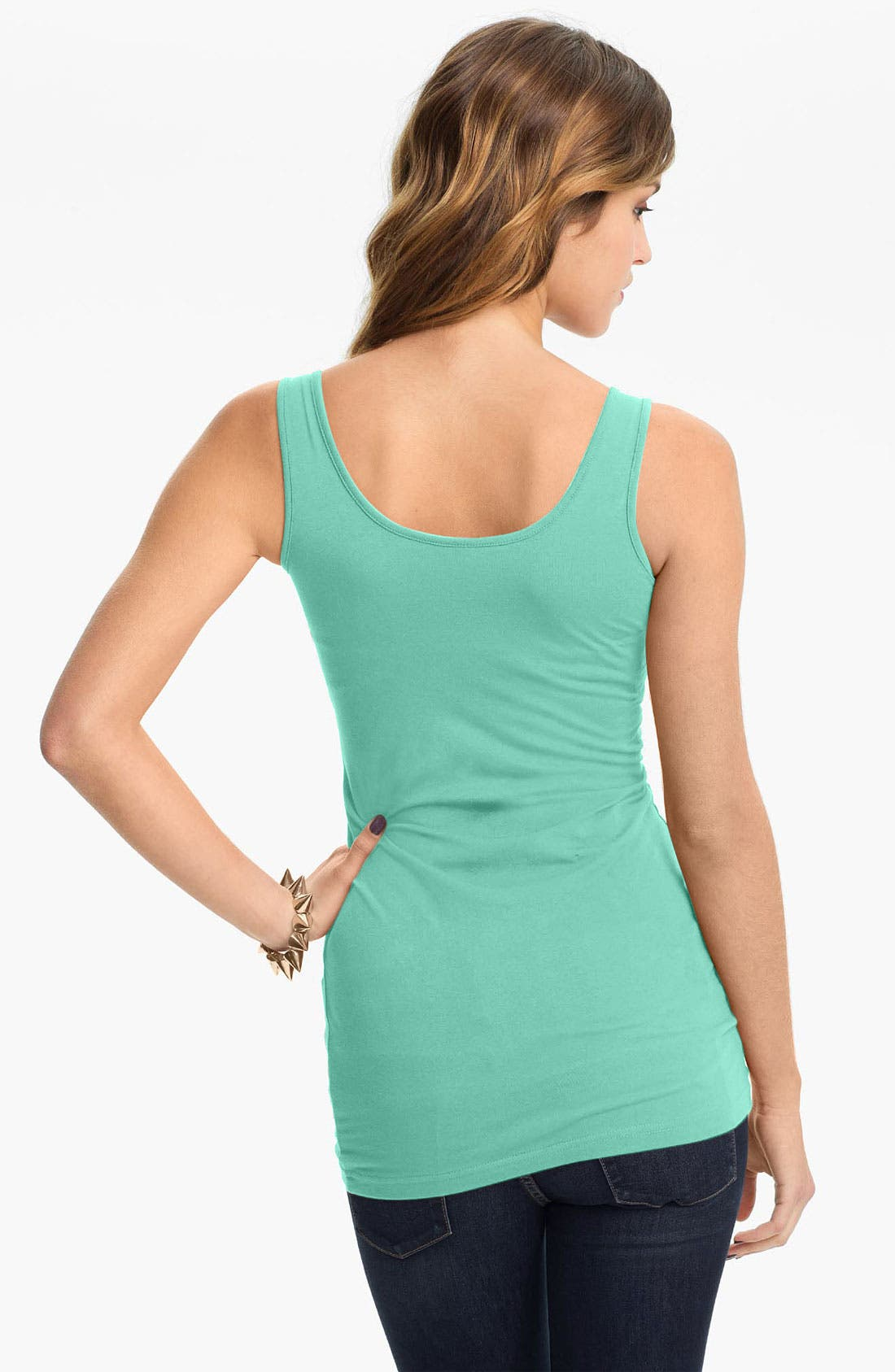 ,                             Double Scoop Neck Tank,                             Alternate thumbnail 134, color,                             323
