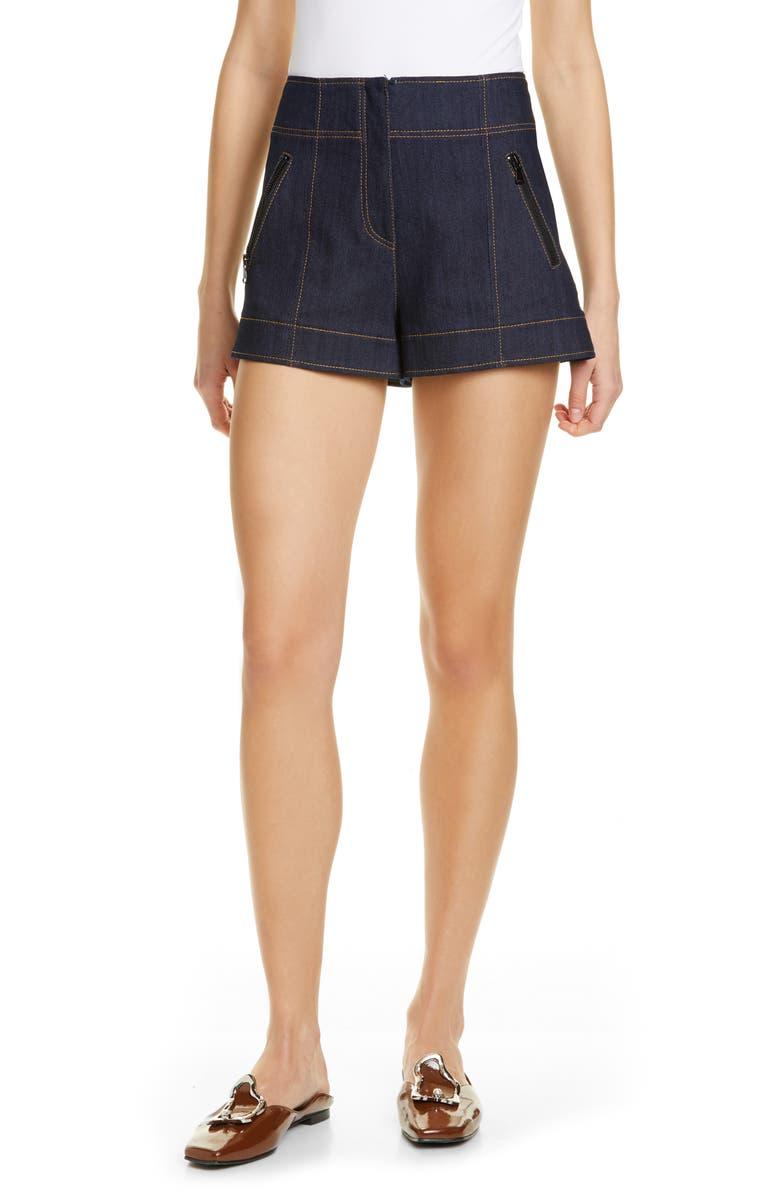 CINQ À SEPT Marla Denim Shorts, Main, color, 422