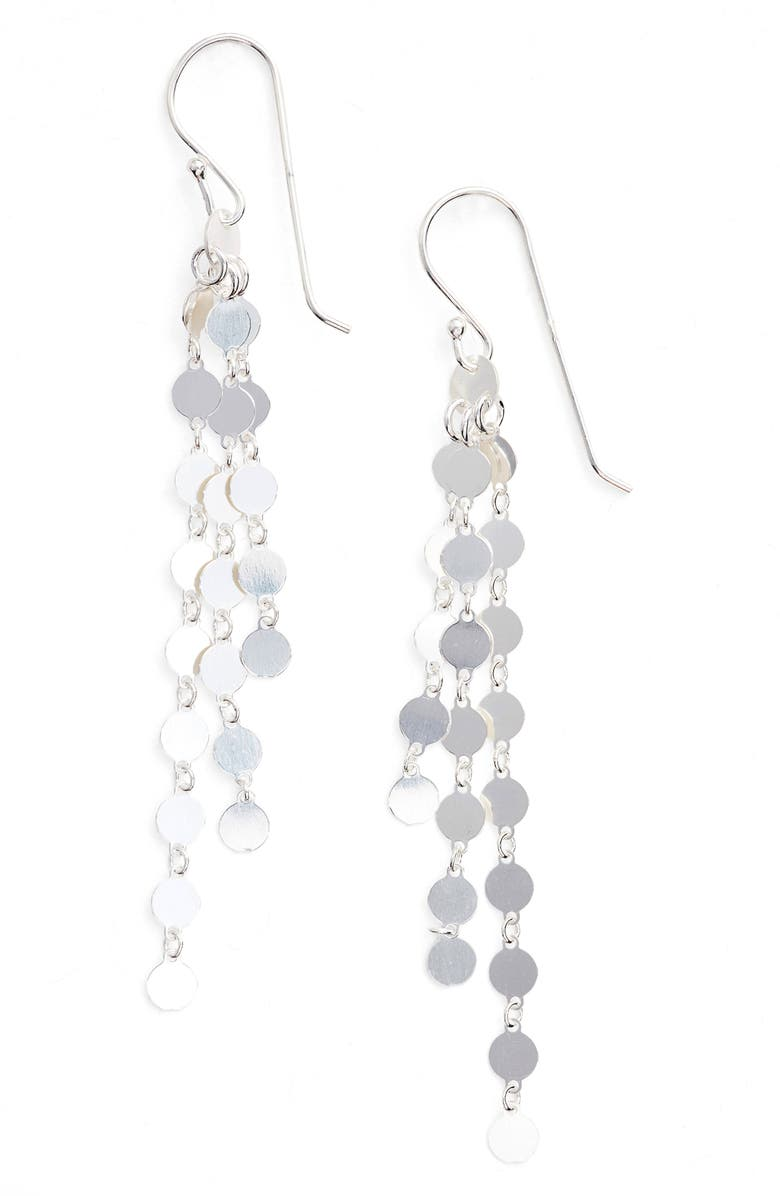 ARGENTO VIVO Link Drop Earrings, Main, color, SILVER