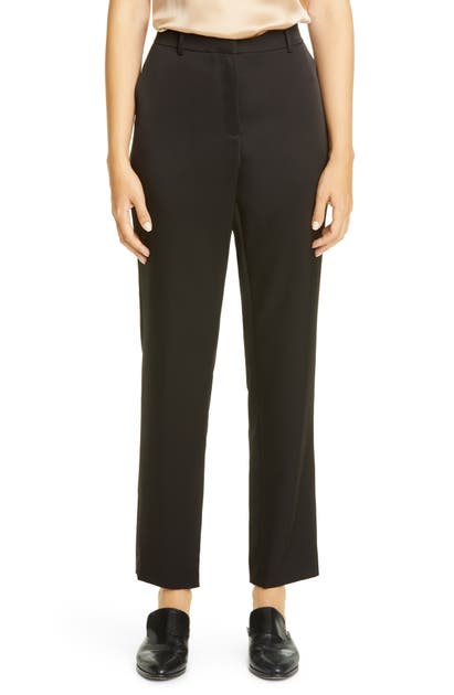 Lafayette 148 Pants CLINTON RADIANT SATIN CLOTH ANKLE PANTS