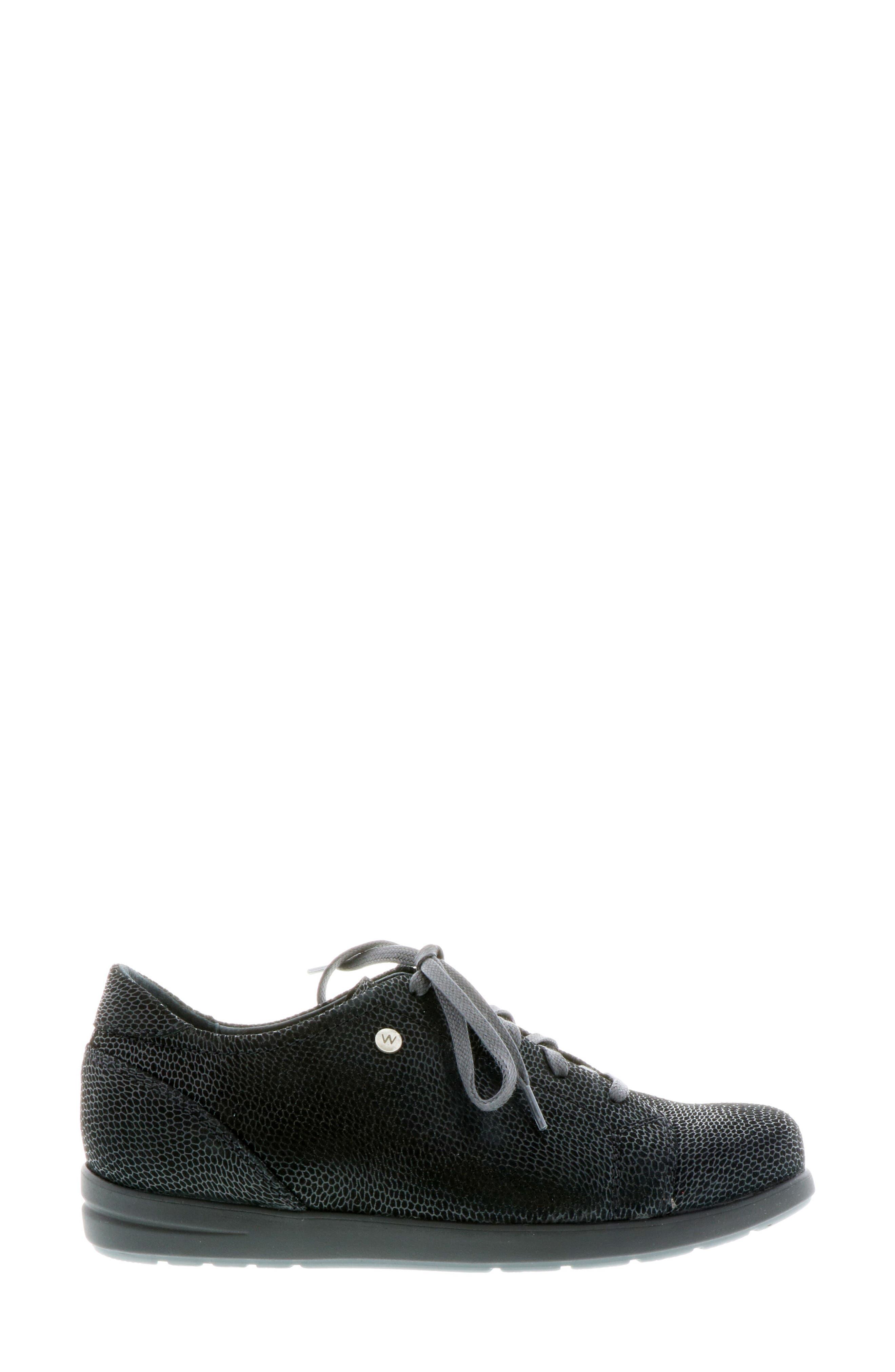 ,                             Kinetic Sneaker,                             Alternate thumbnail 3, color,                             BLACK NUBUCK LEATHER