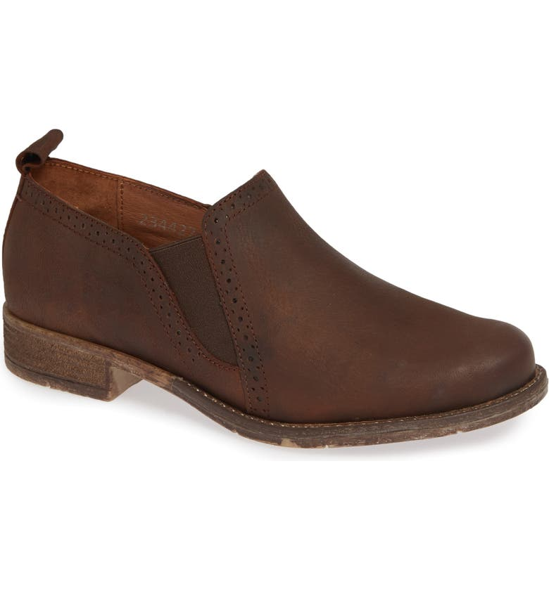 JOSEF SEIBEL Sienna 91 Slip-On Flat, Main, color, BROWN LEATHER