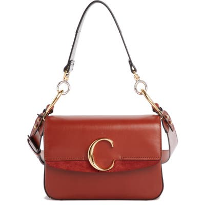 Chloe Leather Shoulder Bag - Brown