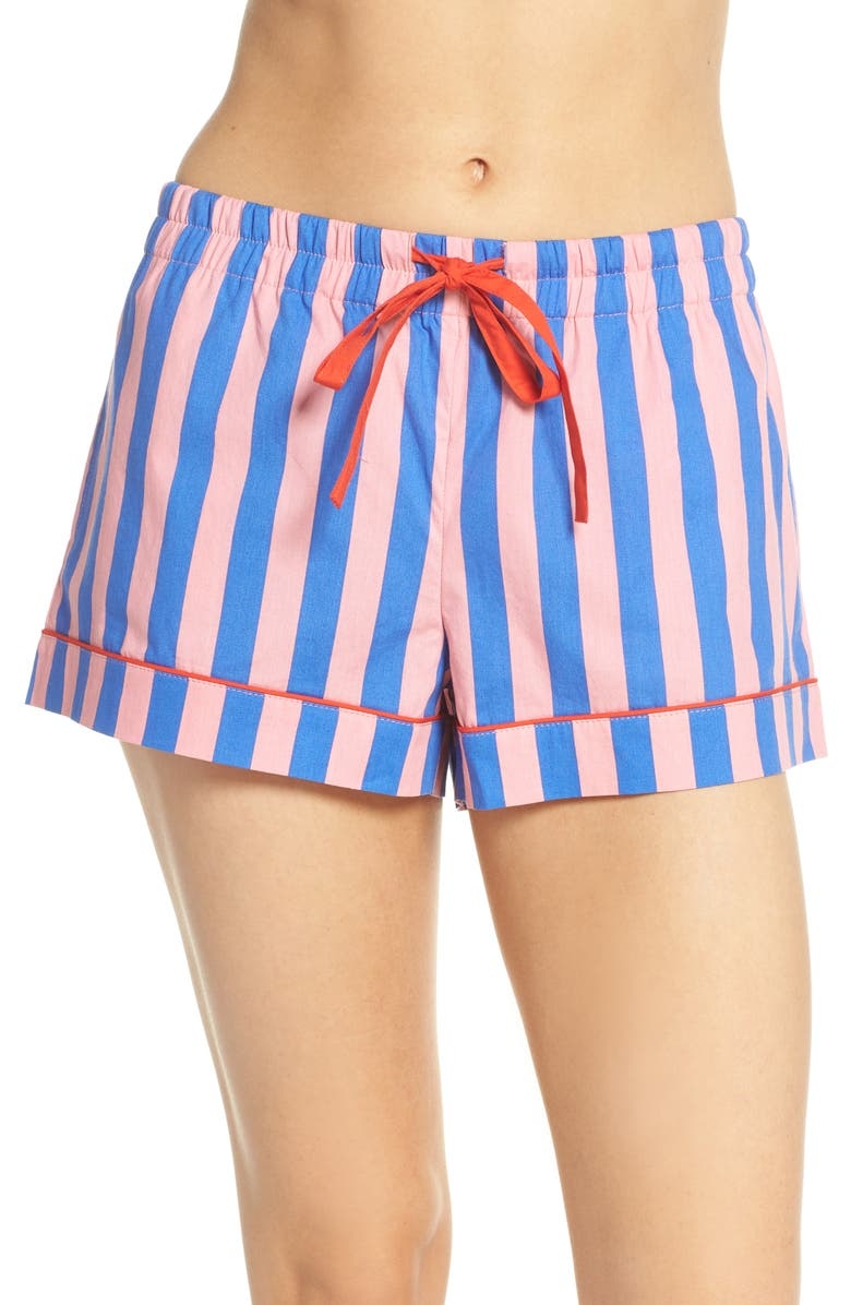 BAN.DO Stripe Sleep Shorts, Main, color, PINK
