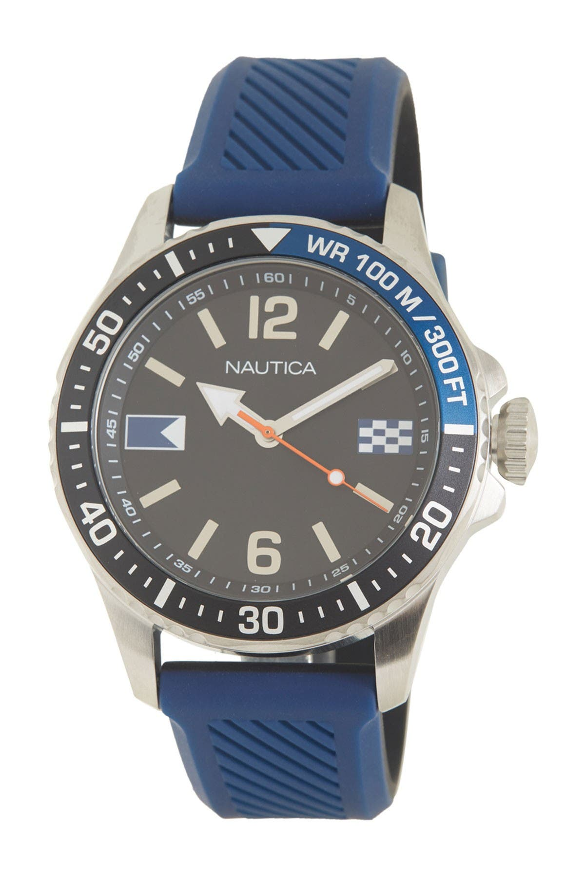 Image of Nautica Men's Freeboard Silicone Watch, 44mm