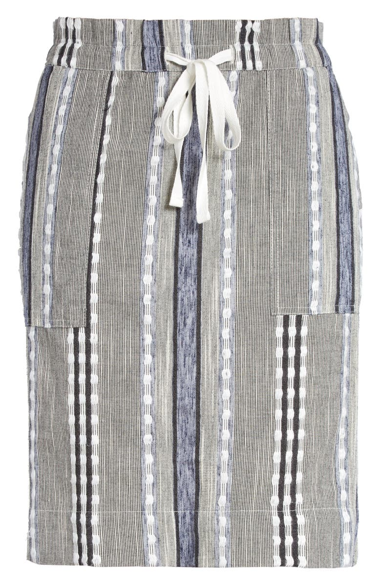 CASLON<SUP>®</SUP> Stripe Cotton Pull-On Skirt, Main, color, 410